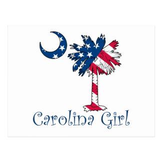 U.S. Flag Carolina Girl Postcard