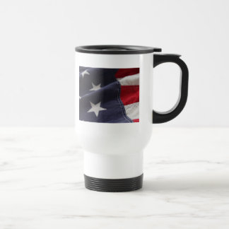 U.S. flag close up hat Travel Mug