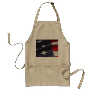 U.S. flag close up khaki apron