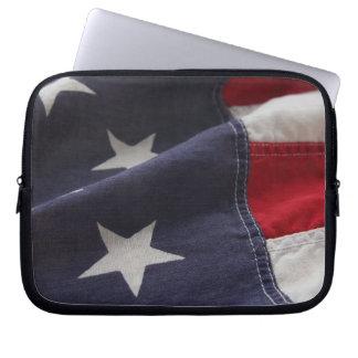 U.S. flag close up laptop sleeve