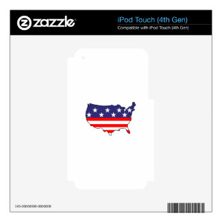 U. S. Flag Decals For iPod Touch 4G