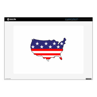 U. S. Flag Decals For Laptops