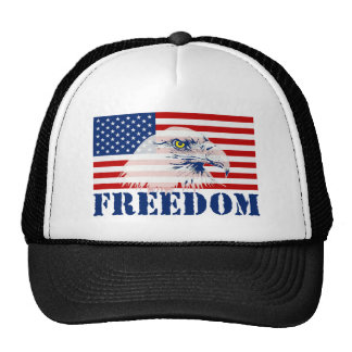 U.S. Flag & Eagle FREEDOM Hat Hats