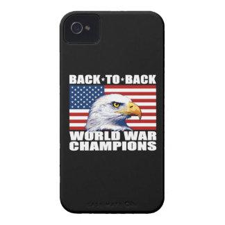 U.S. Flag & Eagle World War Champions iPhone 4 Case-Mate Cases