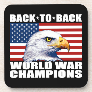 U.S. Flag & Eagle World War Champions Coasters