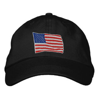 U.S. Flag Embroidered Hat