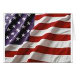 U.S. Flag Flying Greeting Card