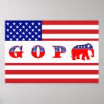 U.S. Flag - G O P - Elephant Posters