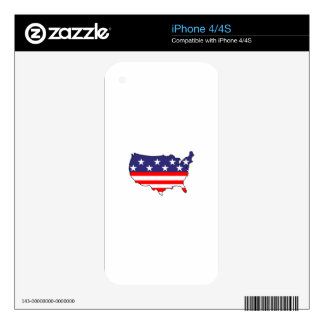 U. S. Flag iPhone 4 Skin