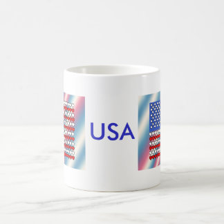 U.S. Flag made with Hearts on a Mug