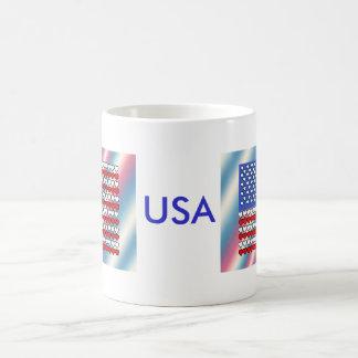 U.S. Flag made with Hearts on a Mug