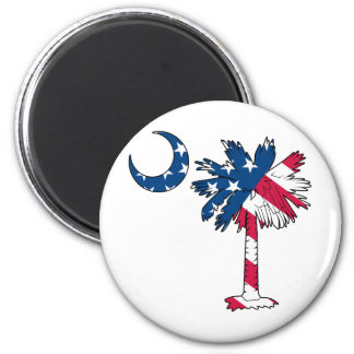 U.S. Flag Palmetto Fridge Magnet
