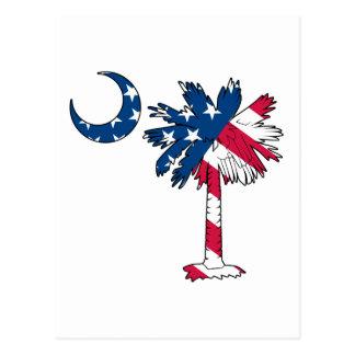 U.S. Flag Palmetto Postcard