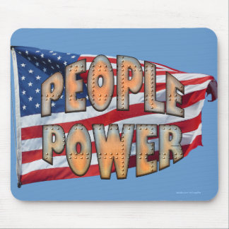 U.S. Flag People Power Independence Motivation Mouse Pad