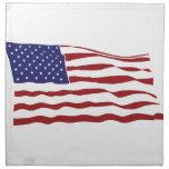 U.S. Flag Printed Napkins