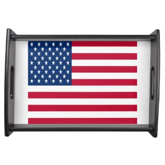 U. S. Flag serving tray