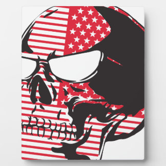 U.S. Flag Skull Display Plaques