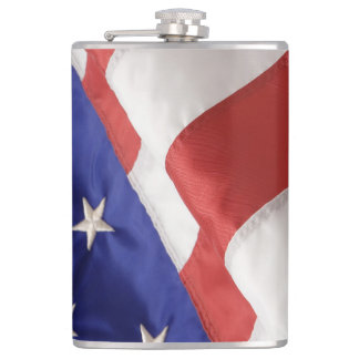 U.S. Flag Vinyl Wrapped Flask, 8 oz. Hip Flask