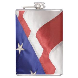 U.S. Flag Vinyl Wrapped Flask, 8 oz. Hip Flask