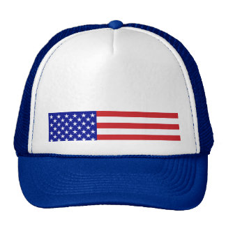 U S Flag - Write Your Own Text Mesh Hat