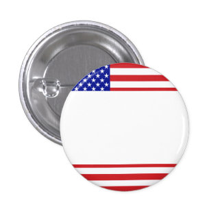 U.S. Flag - Write Your Own Text Pinback Button