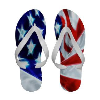 U S Flips-flopes de la bandera
