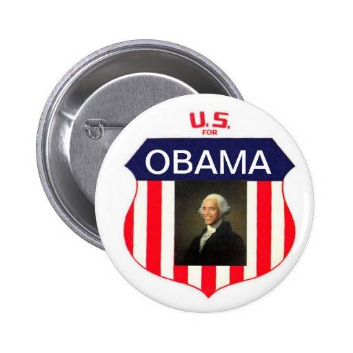 U.S. for Obama 2 Inch Round Button