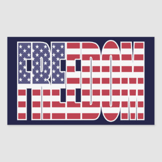 U S Freedom Flag Stickers sheet of 4