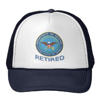 U S Gorra jubilado Departamento de Defensa