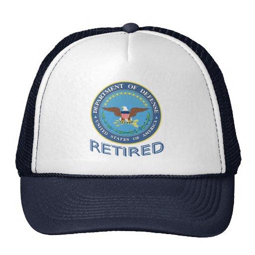 U.S. Gorra jubilado Departamento de Defensa
