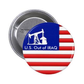 U.S. Hacia fuera si botón de Iraq Pin