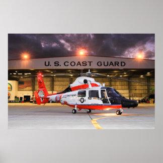 U.S. Helicóptero del guardacostas Posters