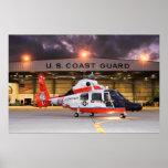 U.S. Helicóptero del guardacostas Póster