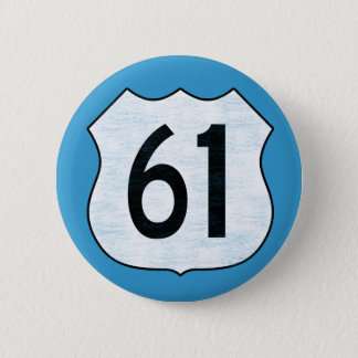U.S. Highway 61 Route Sign Button