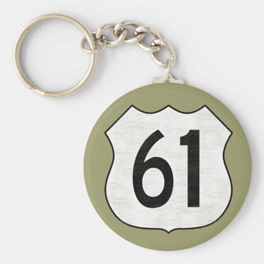 U.S. Highway 61 Route Sign Keychain