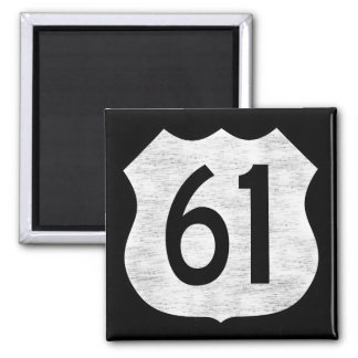 U.S. Highway 61 Route Sign 2 Inch Square Magnet