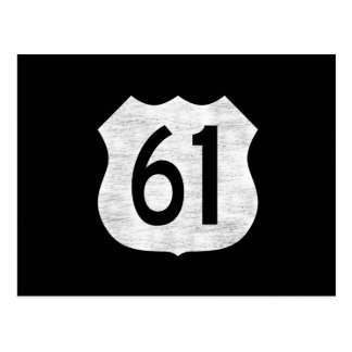 U.S. Highway 61 Route Sign Postcard
