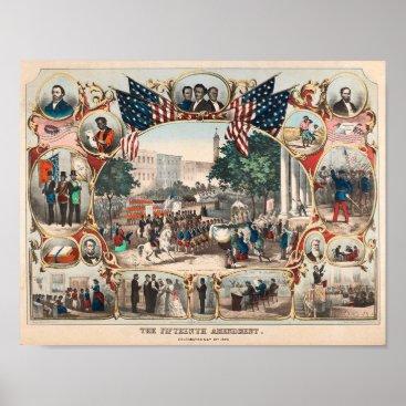 USA Themed U.S. History: The Fifteenth Amendment Poster