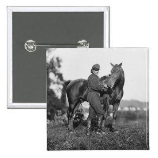 U.S. Horse Artillery, 1863 2 Inch Square Button