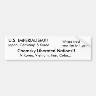 U.S. ¡IMPERIALISMO!!! PEGATINA PARA AUTO