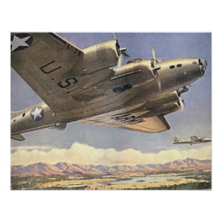 U.S. Impresión del bombardero del ejército Póster