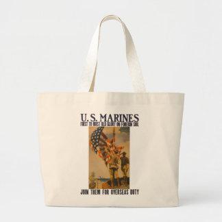 U.S. Infantes de marina: 1913 - Tote enorme #2 Bolsa Tela Grande