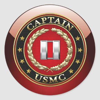 U.S. Infantes de marina: Captain (capitán) del Pegatina Redonda