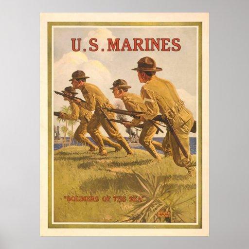 U.S. Infantes de marina Póster