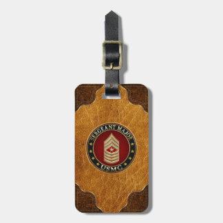 U.S. Infantes de marina: Sargento comandante (USMC Etiquetas Para Equipaje
