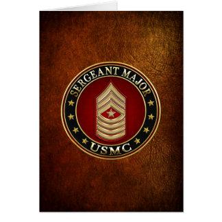 U.S. Infantes de marina: Sargento comandante (USMC Tarjeta De Felicitación