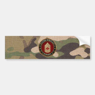 U.S. Infantes de marina: Sargento mayor (USMC MSgt Pegatina Para Auto