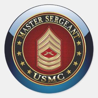 U.S. Infantes de marina: Sargento mayor (USMC Pegatinas Redondas