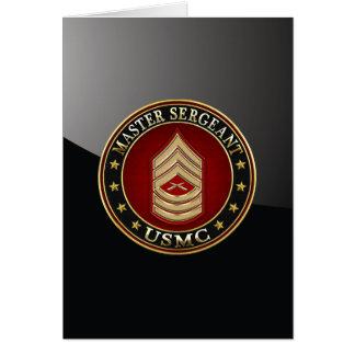 U.S. Infantes de marina: Sargento mayor (USMC Tarjeta De Felicitación