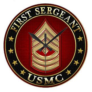 U.S. Infantes de marina: Sargento (USMC 1stSgt) [3 Reloj Redondo Grande